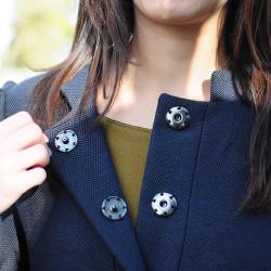 Sew-on snap fastener - 15 mm - Thumbnail