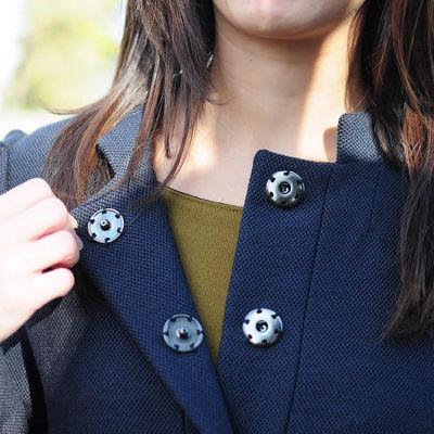 Sew-on snap fastener - 15 mm