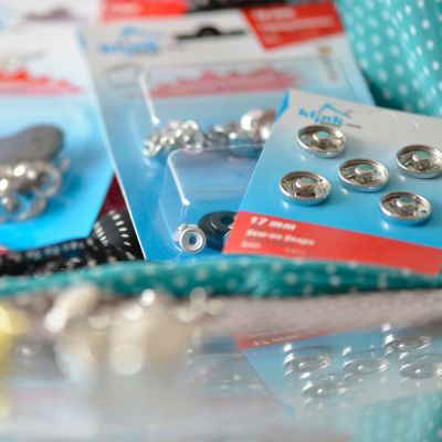 Sew-on snap fastener - 17 mm