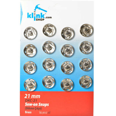 Sew-on snap fastener - 21 mm