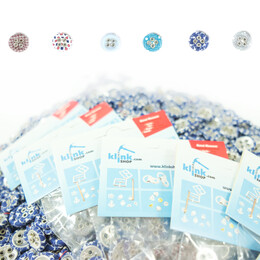Sew-on fabric covered buttons - 4 holes - Thumbnail
