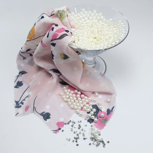 Smart pearl fastening kit - Ecru color