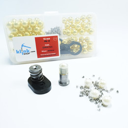Smart pearl fastening kit - Gold color - Thumbnail