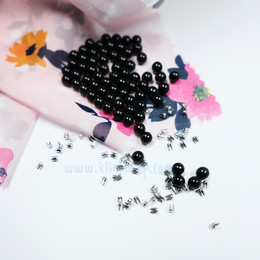 Smart pearl fastening spare package - Black color (without tool) - Thumbnail