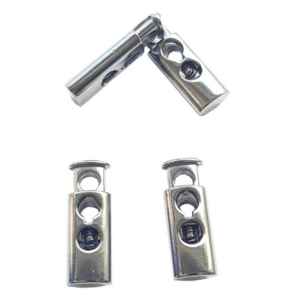 Spring cord lock, two holes - Long