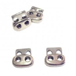 Spring cord lock, two holes - Short - Thumbnail
