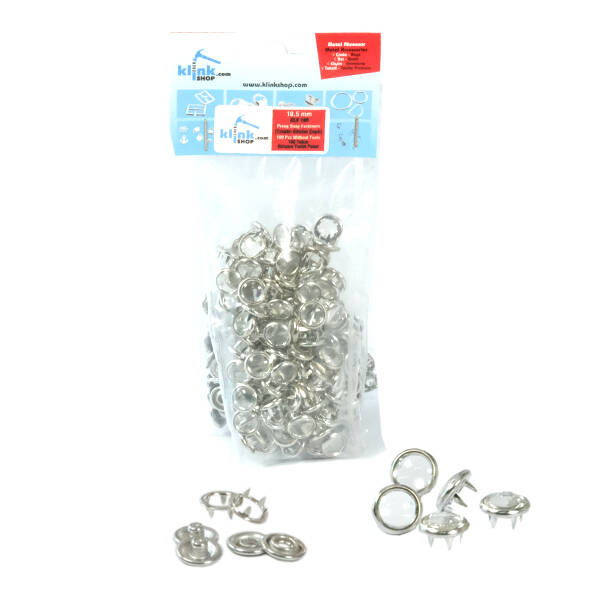Transparent pearl snap fasteners - 10,5 mm, without application tool