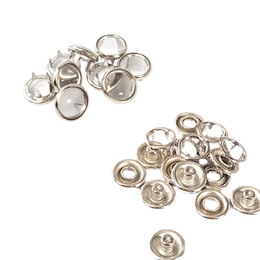 - Transparent pearl snap fasteners - 10,5 mm, without application tool